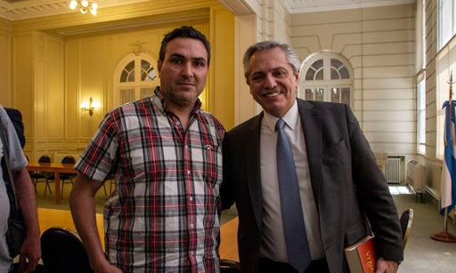 Gildo Onorato con el Presidente de la Nación, Alberto Fernández