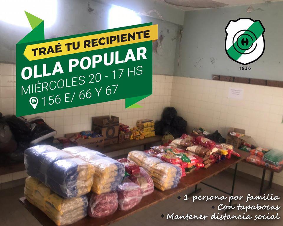 Primera olla popular en Capital Chica - Este miércoles en 156 e/ 66 y 67, el Club Capital Chica realizará una olla popular para las familias del club y vecinos del lugar.