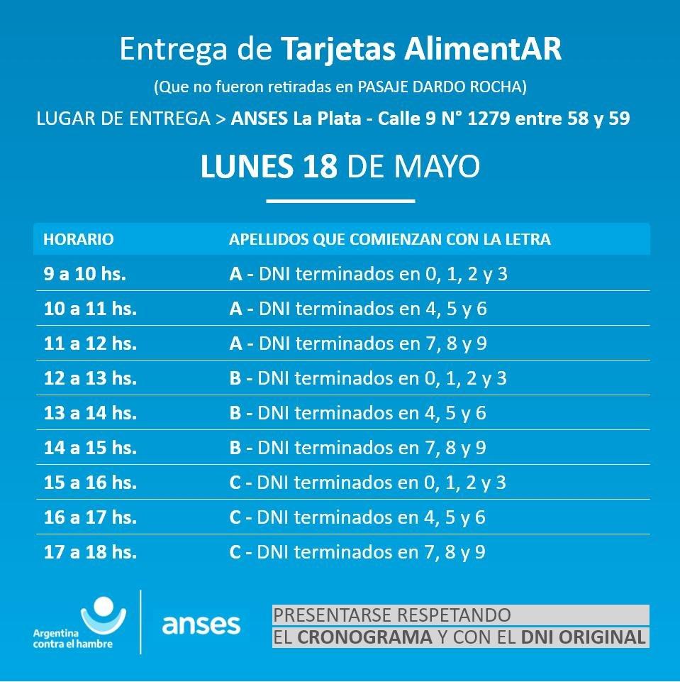 La Plata: comenzaron a entregar las Tarjetas Alimentar - Desde este lunes, se retomó en nuestra ciudad, la entrega de las tarjetas que pertenecen al Programa Argentina contra el Hambre.