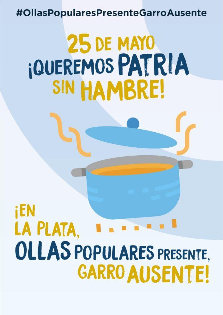 En las barriadas de La Plata hay hambre - #OllasPopularesPresenteGarroAusente