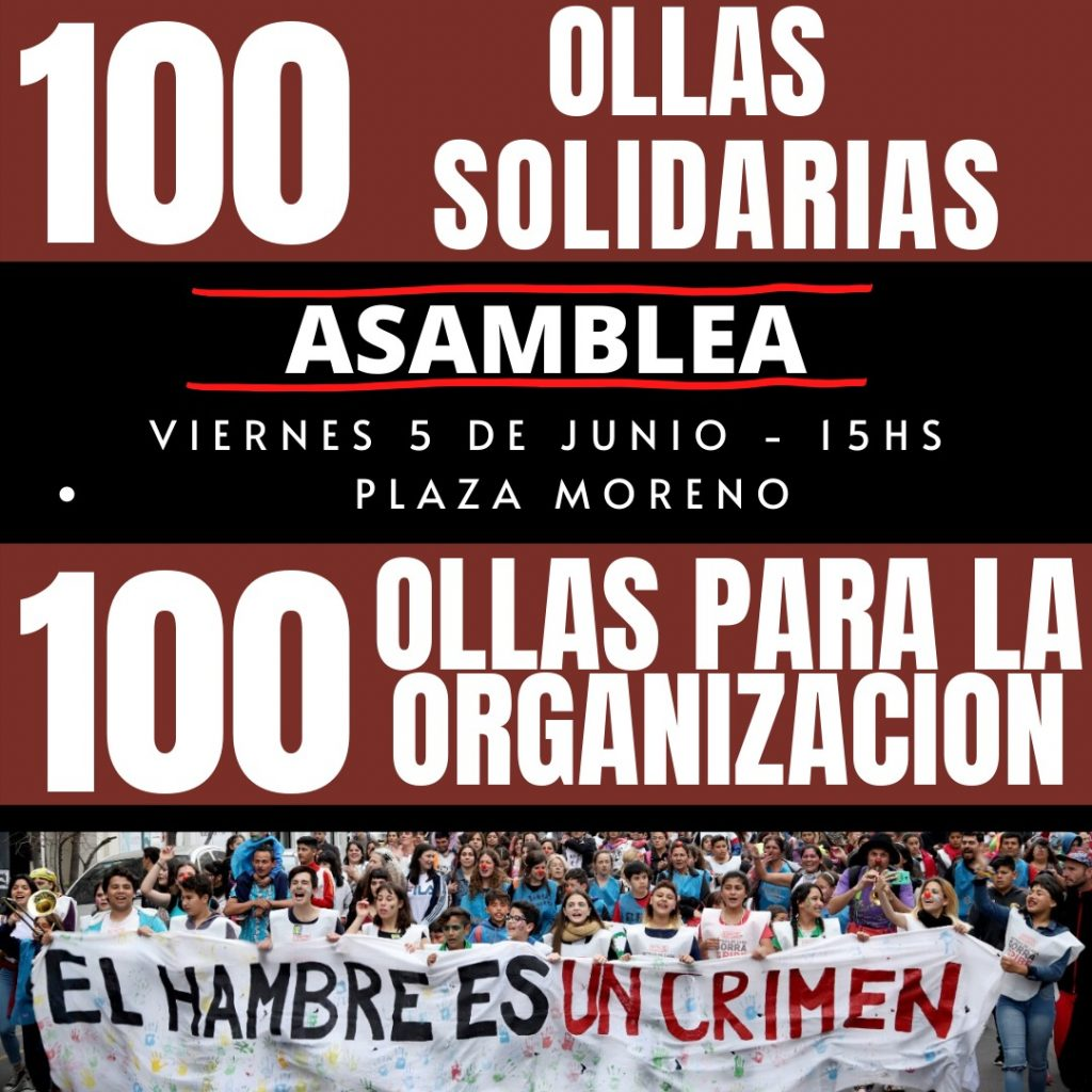 ASAMBLEA DE OLLAS POPULARES EN PLAZA MORENO