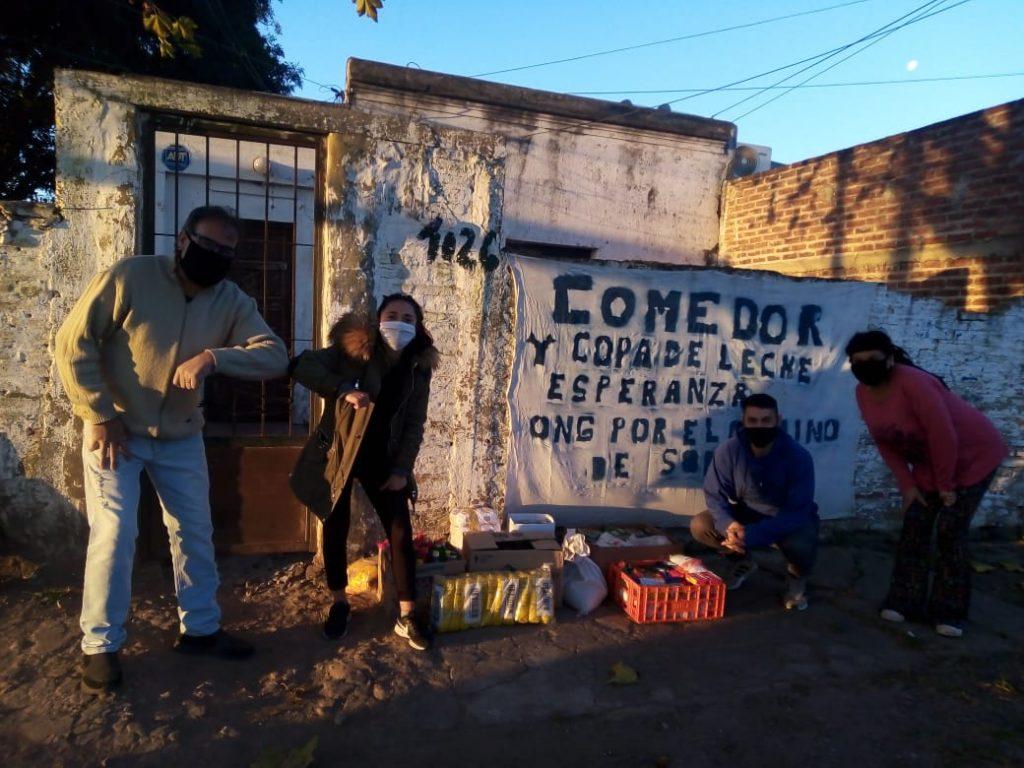 Vecinos de Parque San Martín unidos por la solidaridad