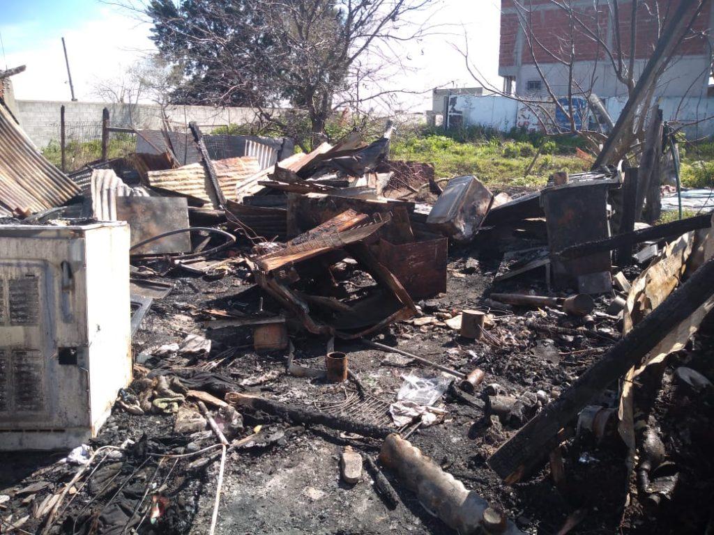 Se incendió una casilla en Romero
