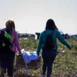 campesinas en el refugio