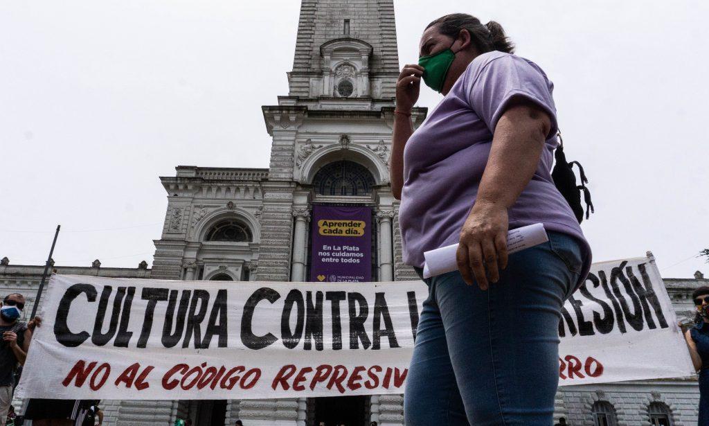 Marcha contra el código represivo de Garro