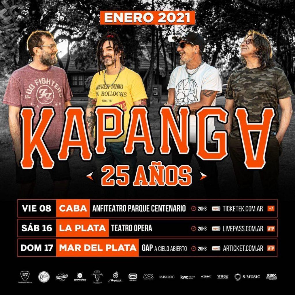 Kapanga y Cielo Razzo darán shows presenciales en La Plata