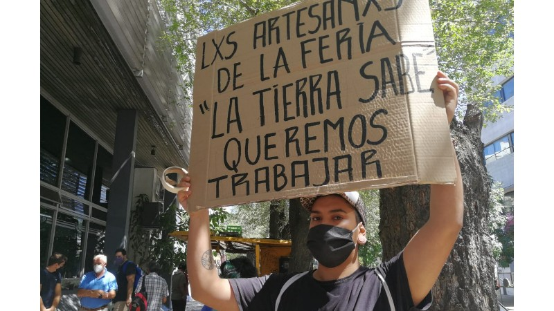 Parque Saavedra: feriantes se organizan frente al atropello de Julio Garro