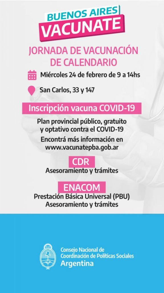 JORNADA DE VACUNACIÓN EN SAN CARLOS