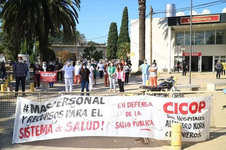 Conferencia de Prensa en el Hospital de Romero